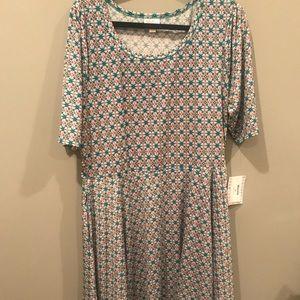 Lularoe Nicole Dress w/pockets 3XL BNWT